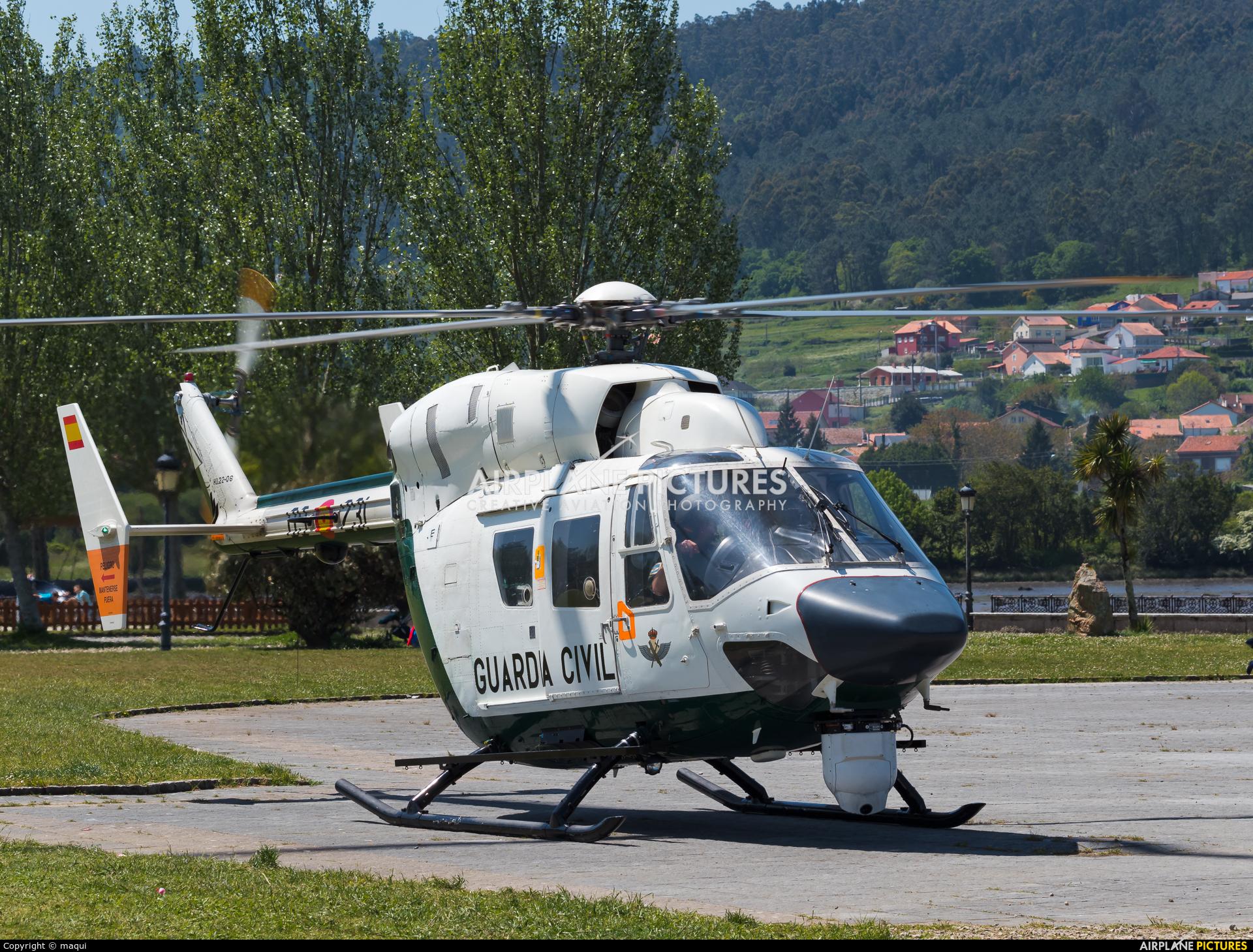 Spain - Guardia Civil HU.22-04 aircraft at La Coruña - Off Airport