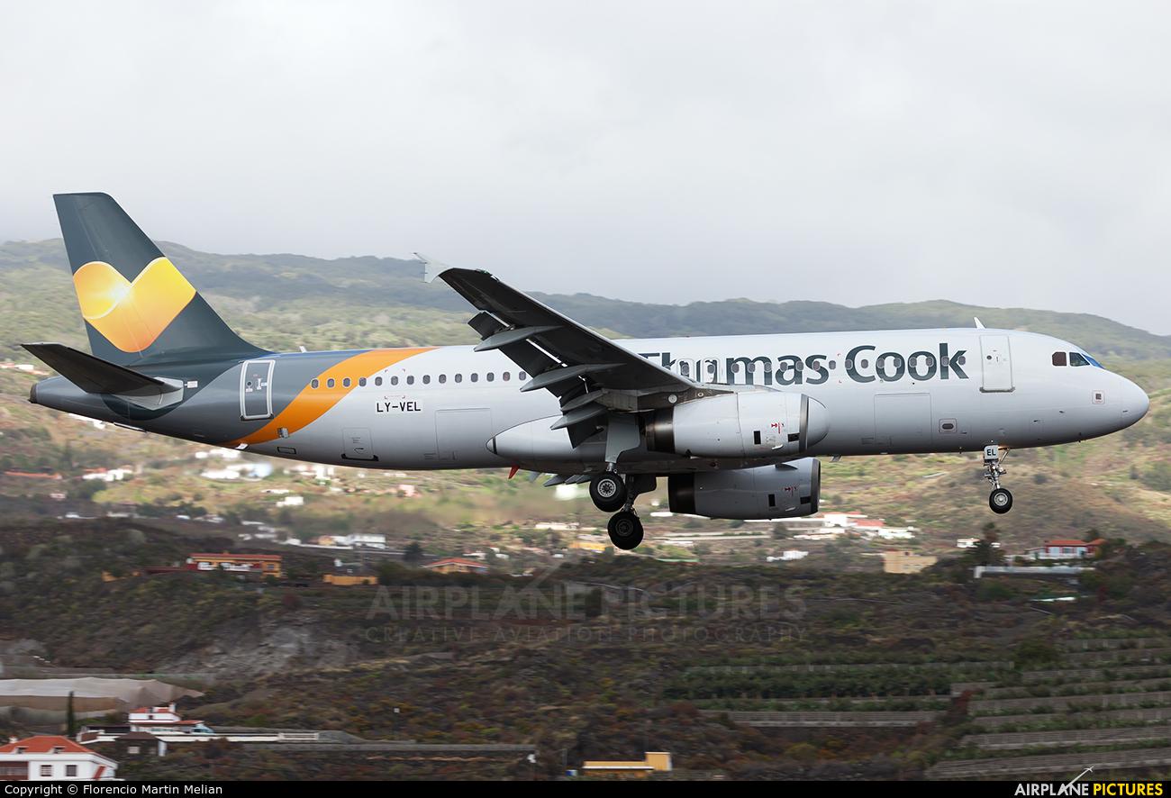 Thomas Cook LY-VEL aircraft at Santa Cruz de La Palma