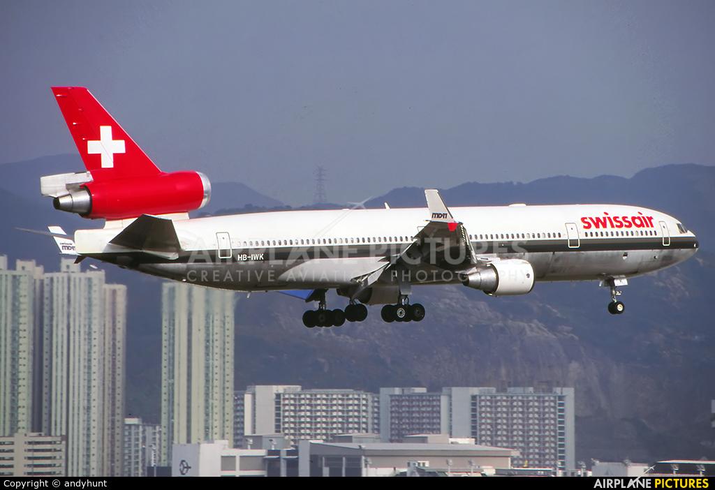 Swissair HB-IWK aircraft at HKG - Kai Tak Intl CLOSED