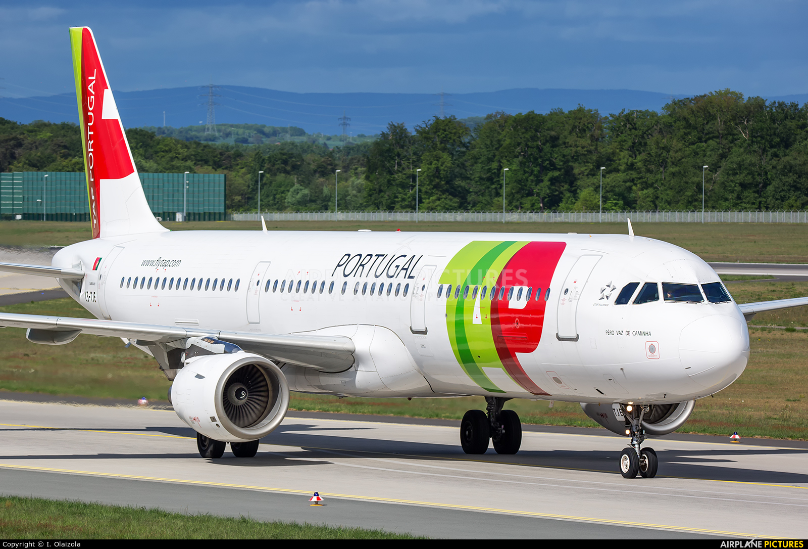 TAP Portugal CS-TJE aircraft at Frankfurt