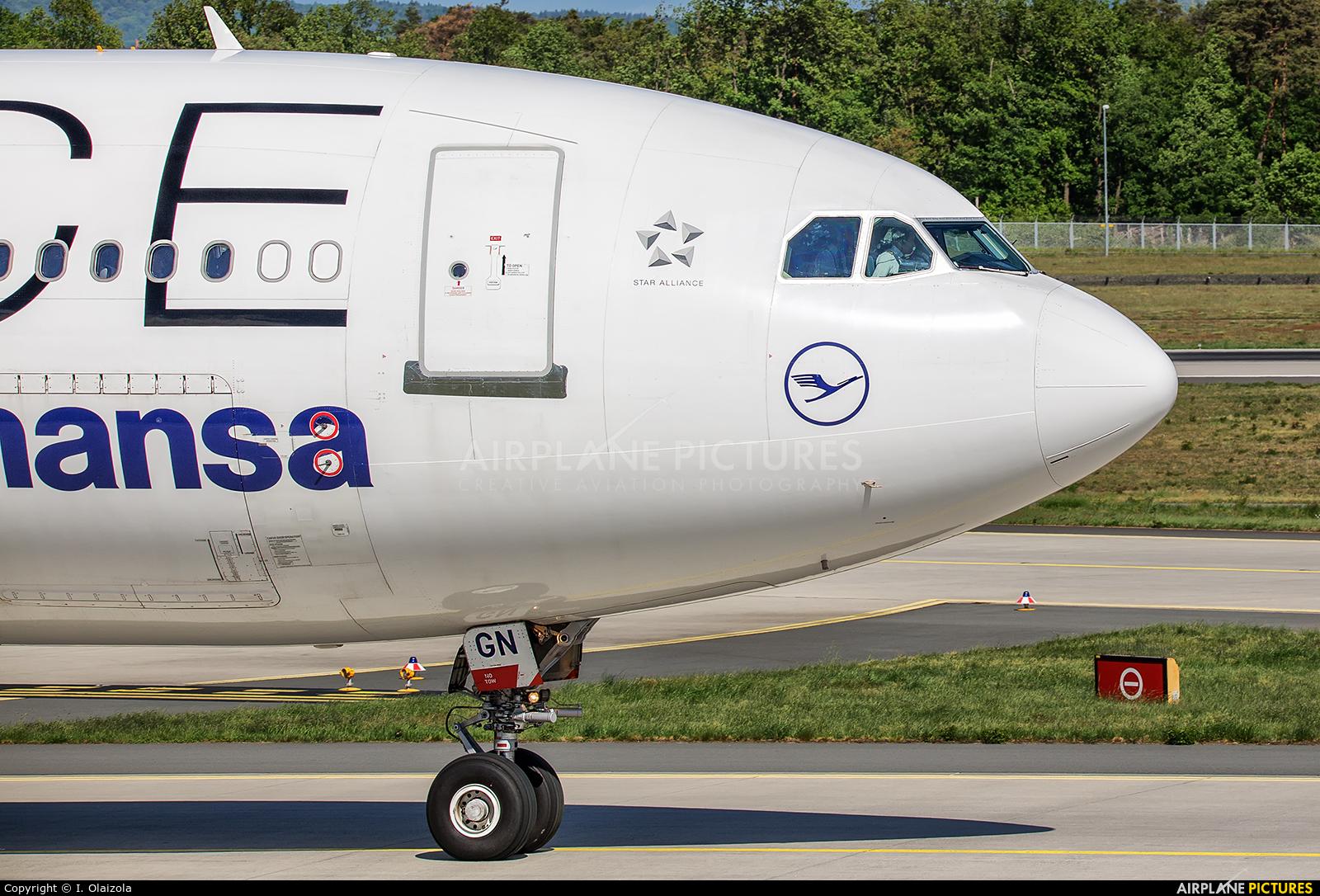 Lufthansa D-AIGV aircraft at Frankfurt