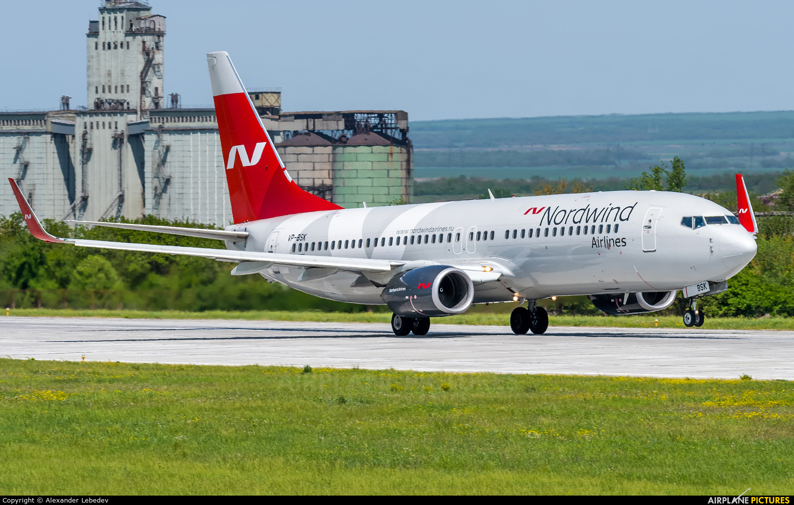Nordwind Airlines VP-BSK aircraft at Mineralnye Vody