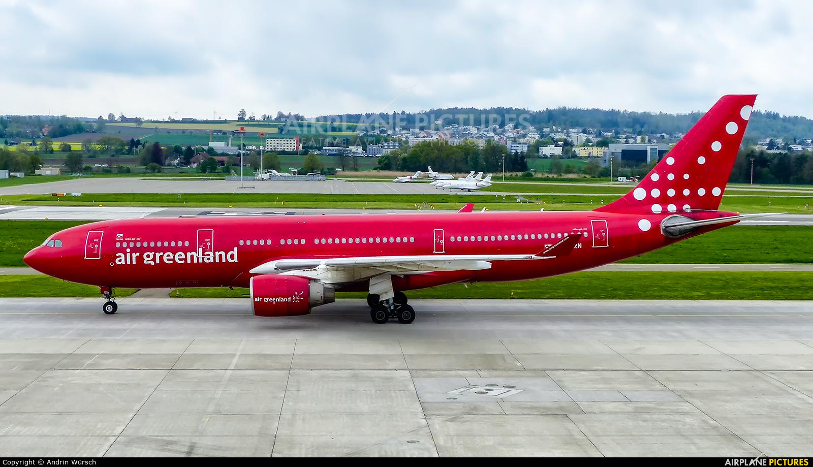 Air Greenland OY-GRN aircraft at Zurich