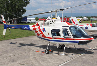 605 - Croatia - Air Force Bell 206B Jetranger III