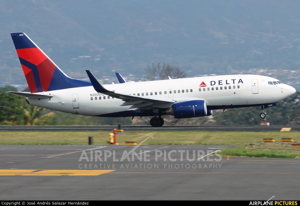 Delta Air Lines N302DQ aircraft at San Jose - Juan Santamaría Intl