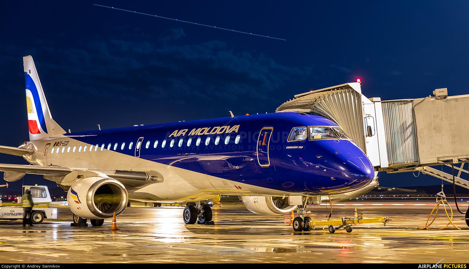 Air Moldova ER-ECD aircraft at Koltsovo - Ekaterinburg