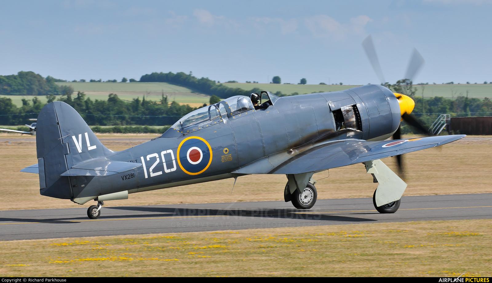 """Royal Navy """"Historic Flight"""" G-RNHF aircraft at Duxford"""