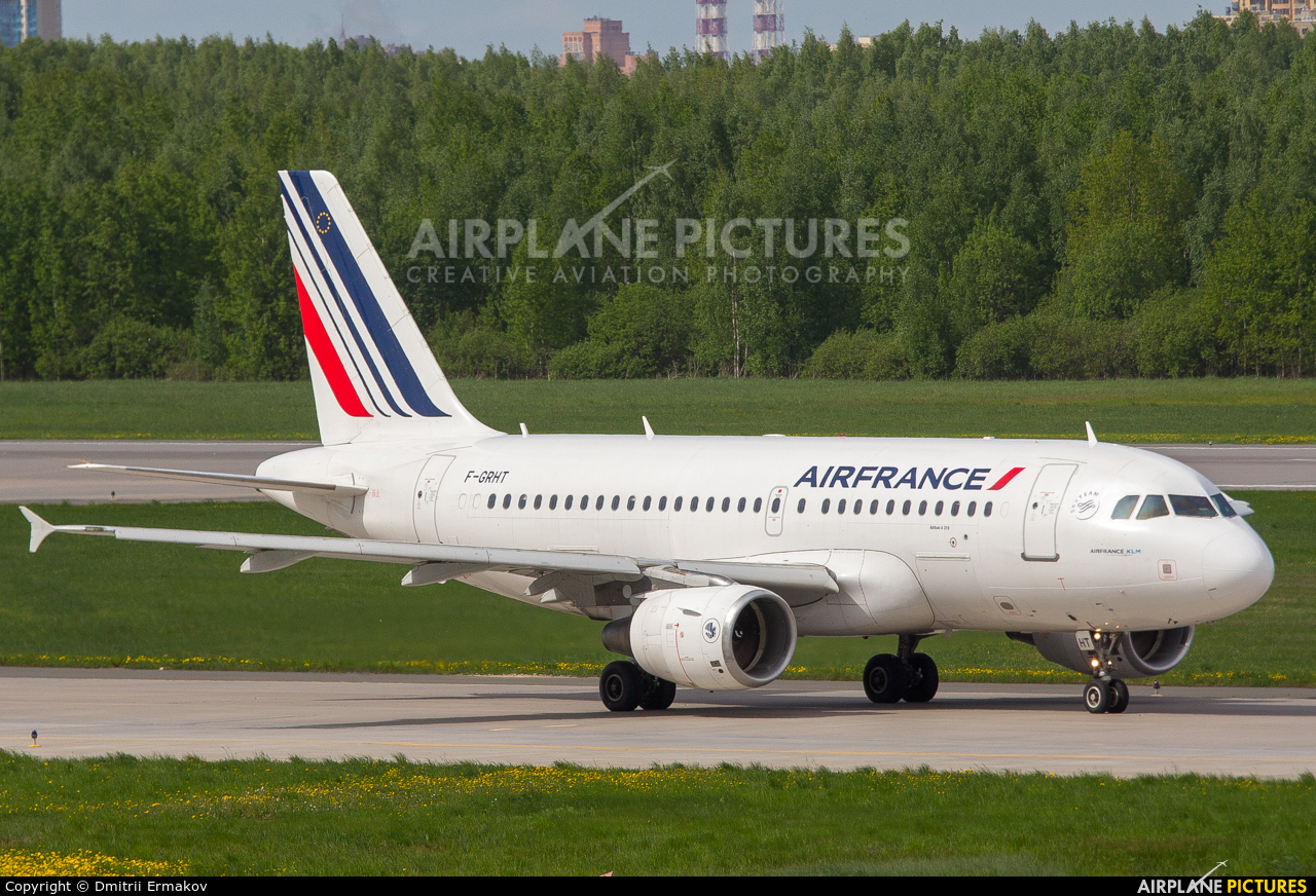Air France F-GRHT aircraft at St. Petersburg - Pulkovo