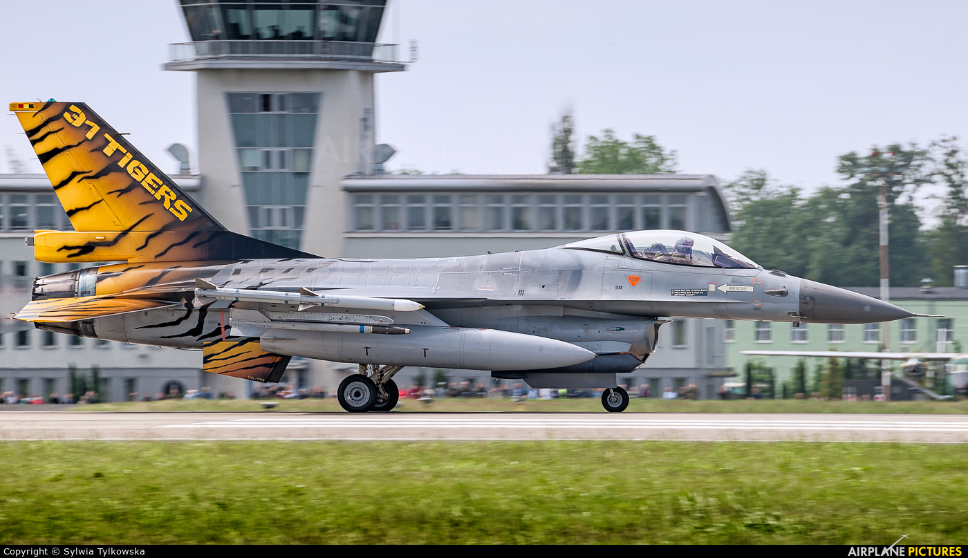 Belgium - Air Force FA-116 aircraft at Poznań - Krzesiny