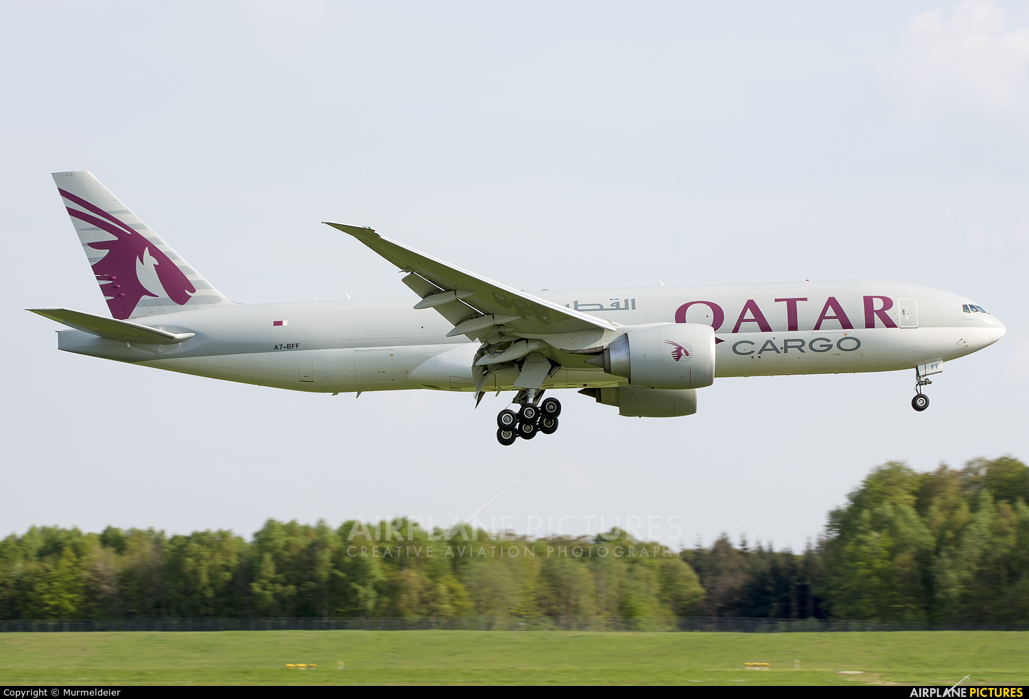 Qatar Airways Cargo A7-BFF aircraft at Luxembourg - Findel