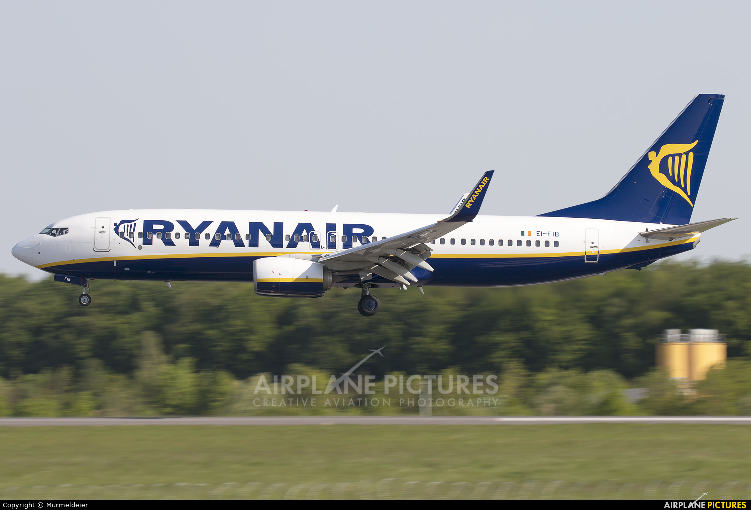Ryanair EI-FIB aircraft at Luxembourg - Findel