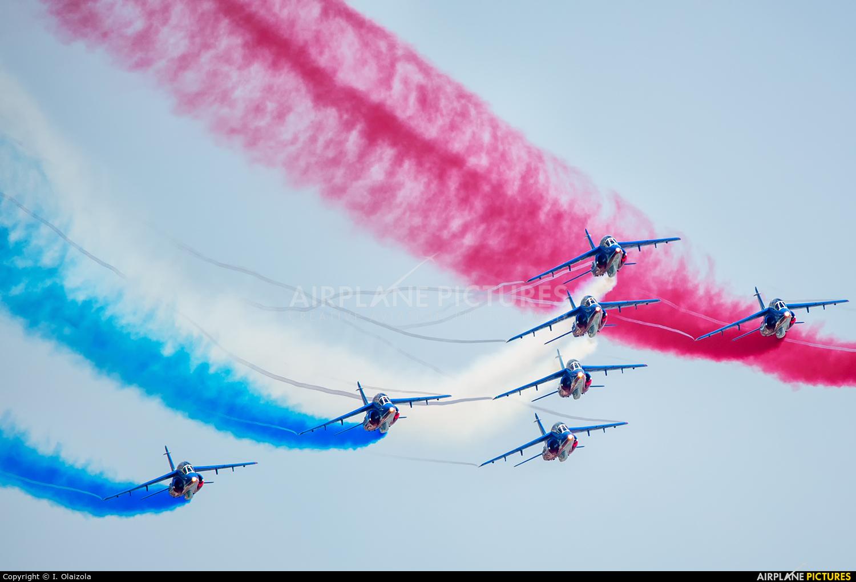 "France - Air Force ""Patrouille de France"" - aircraft at Biarritz"