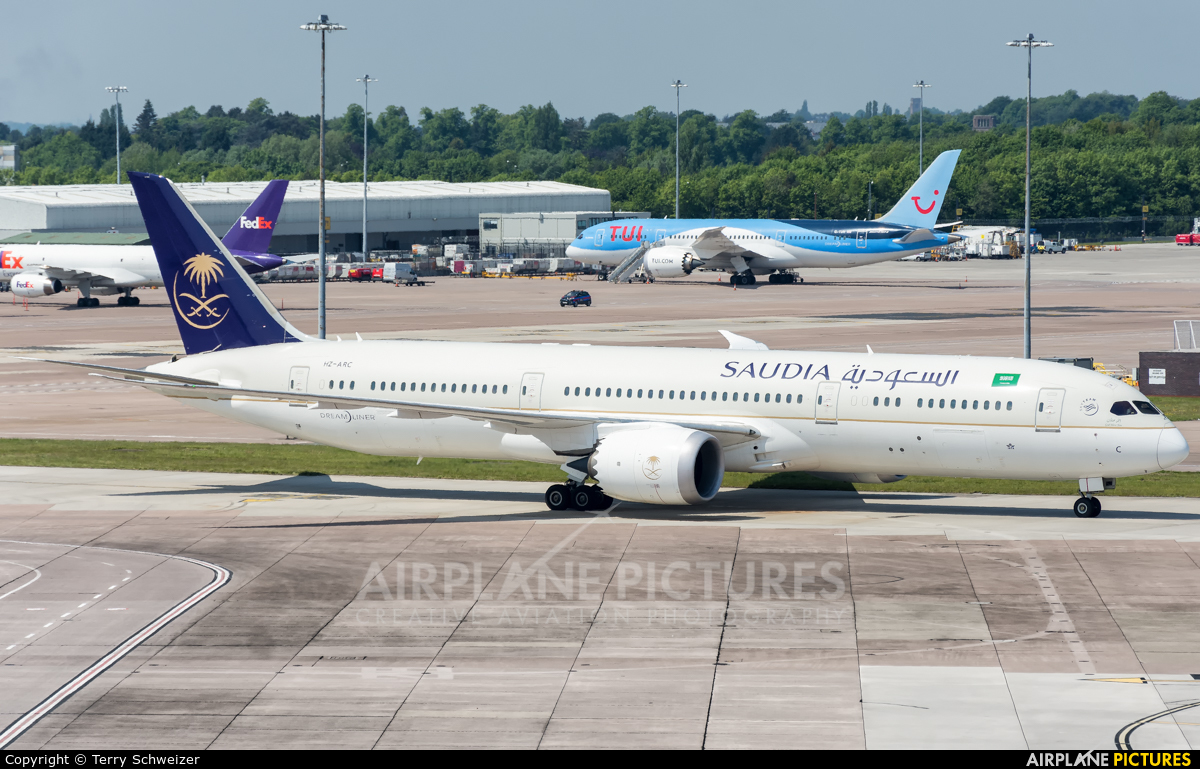 Saudi Arabian Airlines HZ-ARC aircraft at Manchester