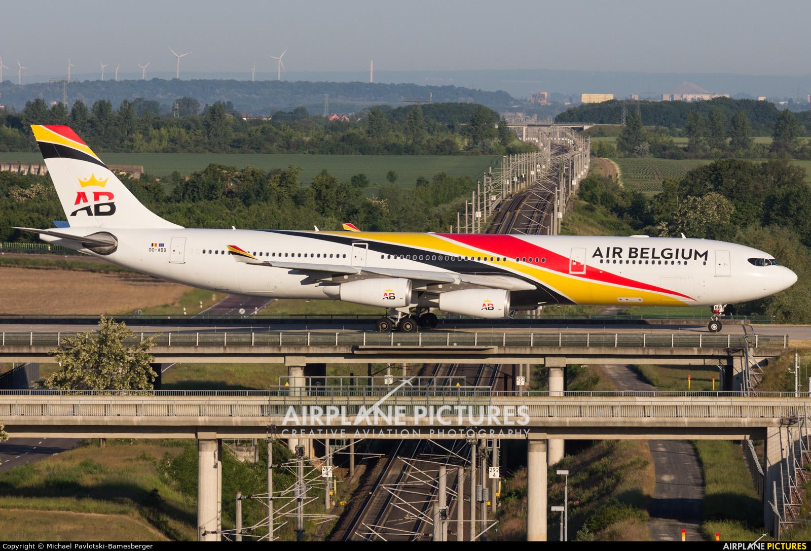 Air Belgium OO-ABB aircraft at Leipzig - Halle