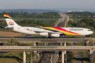 Air Belgium A343 visited Leipzig Halle