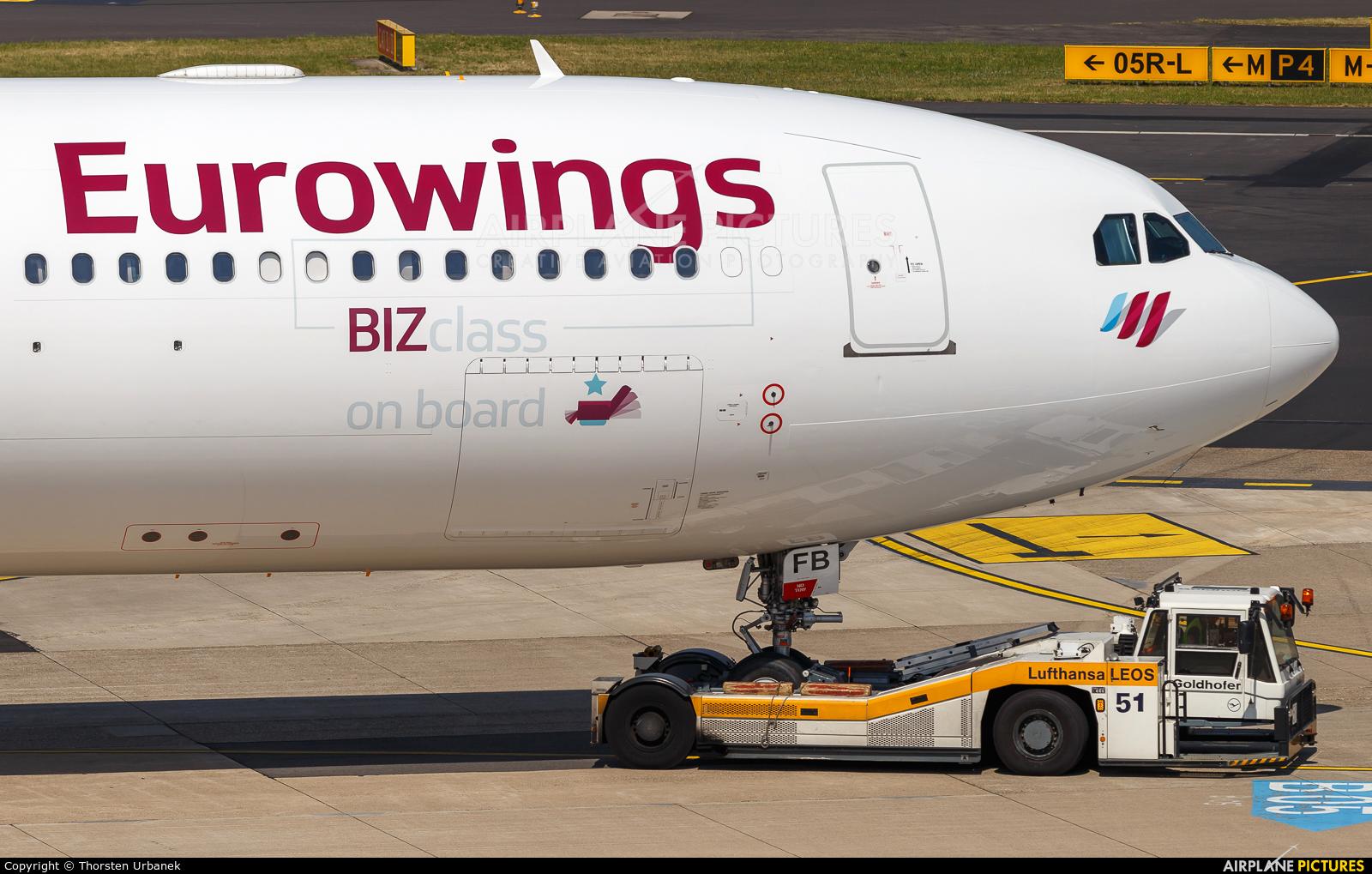 Eurowings OO-SFB aircraft at Düsseldorf