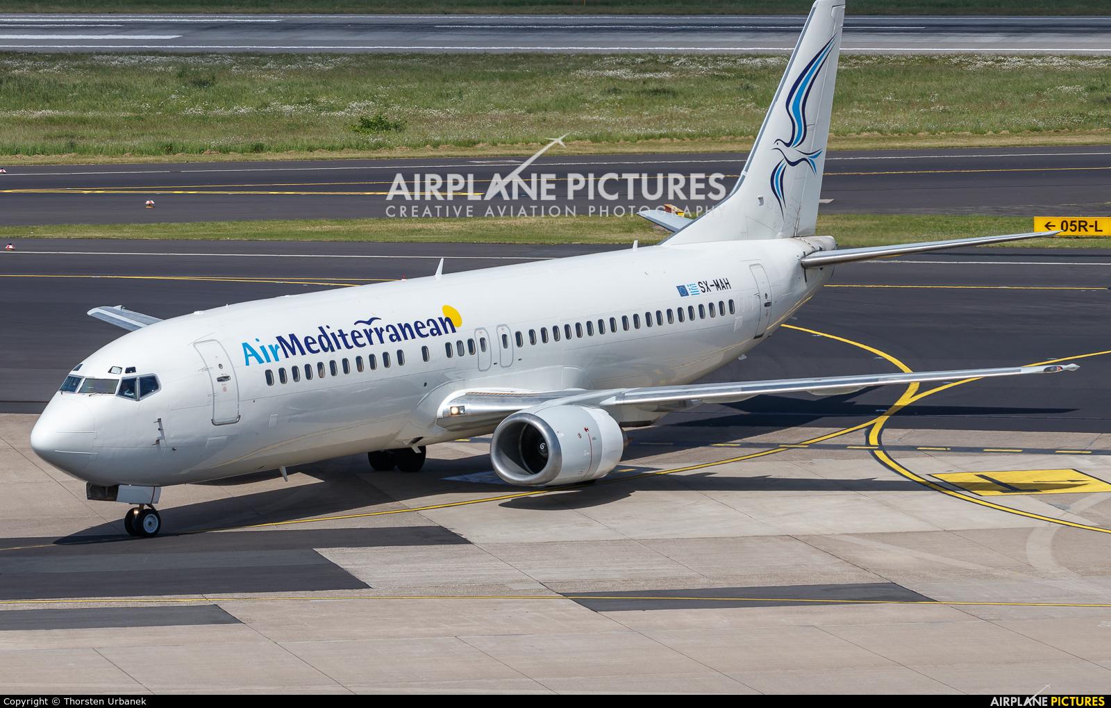 Air Mediterranean SX-MAH aircraft at Düsseldorf