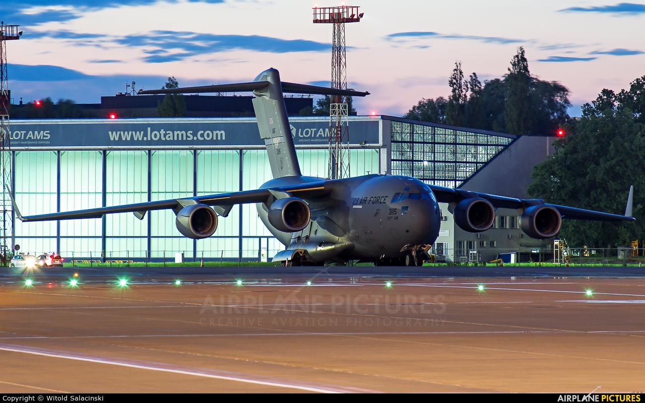 USA - Air Force 03-3115 aircraft at Warsaw - Frederic Chopin