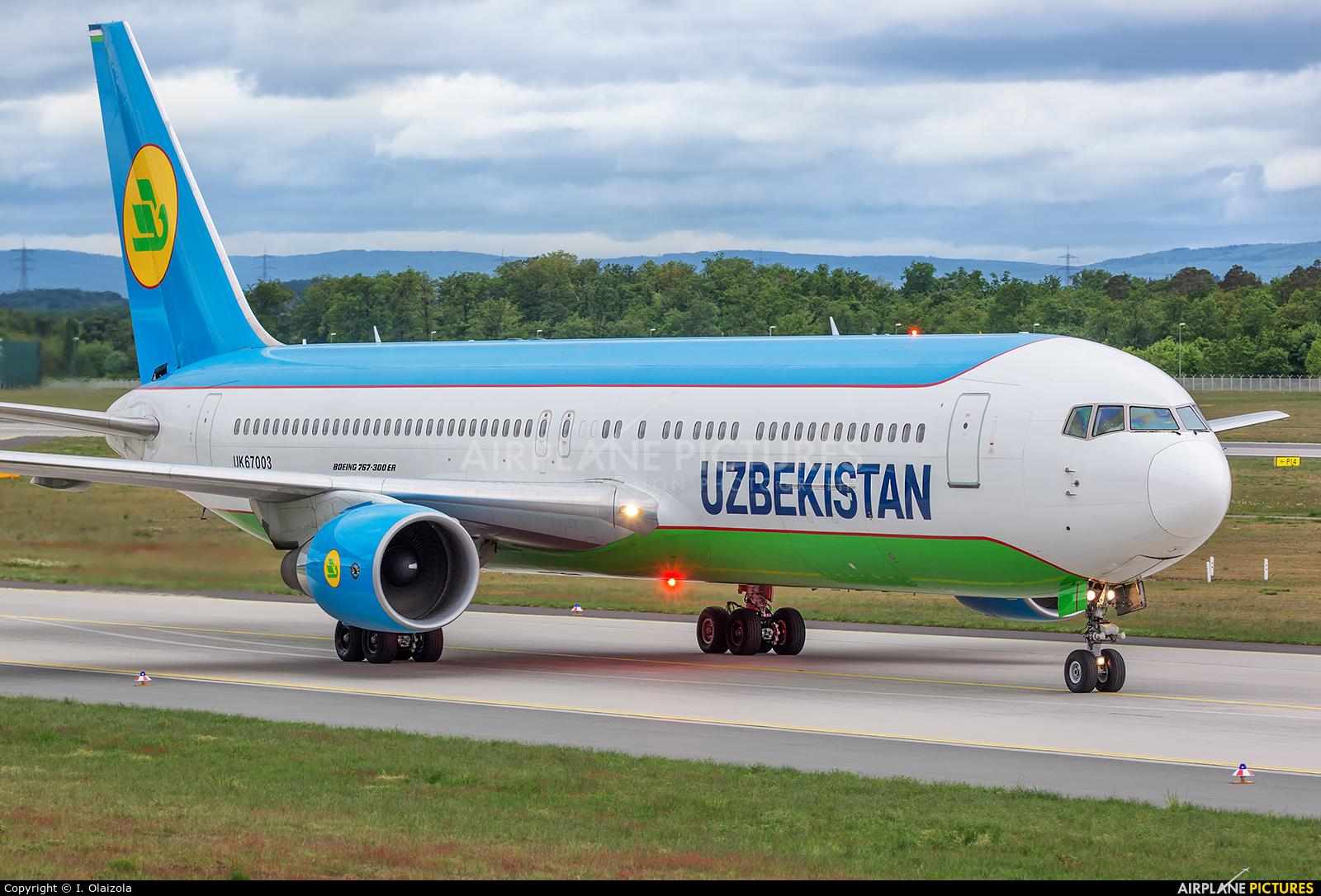 Uzbekistan Airways UK67003 aircraft at Frankfurt