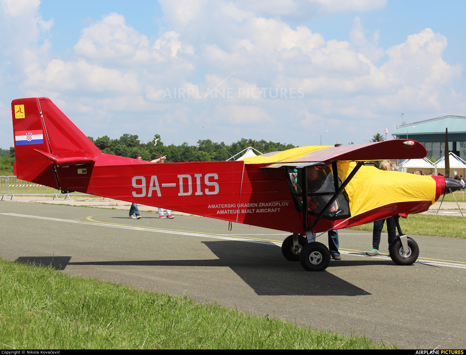 Private 9A-DIS aircraft at Velika Gorica/ZTC