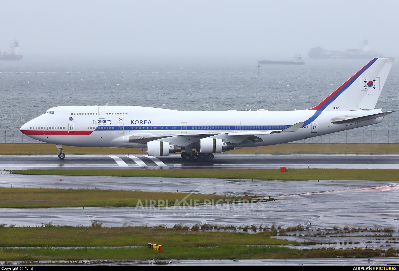 Korea (South) - Air Force 10001 aircraft at Tokyo - Haneda Intl