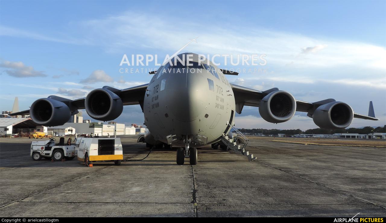 USA - Air Force 07-7172 aircraft at Guatemala - La Aurora