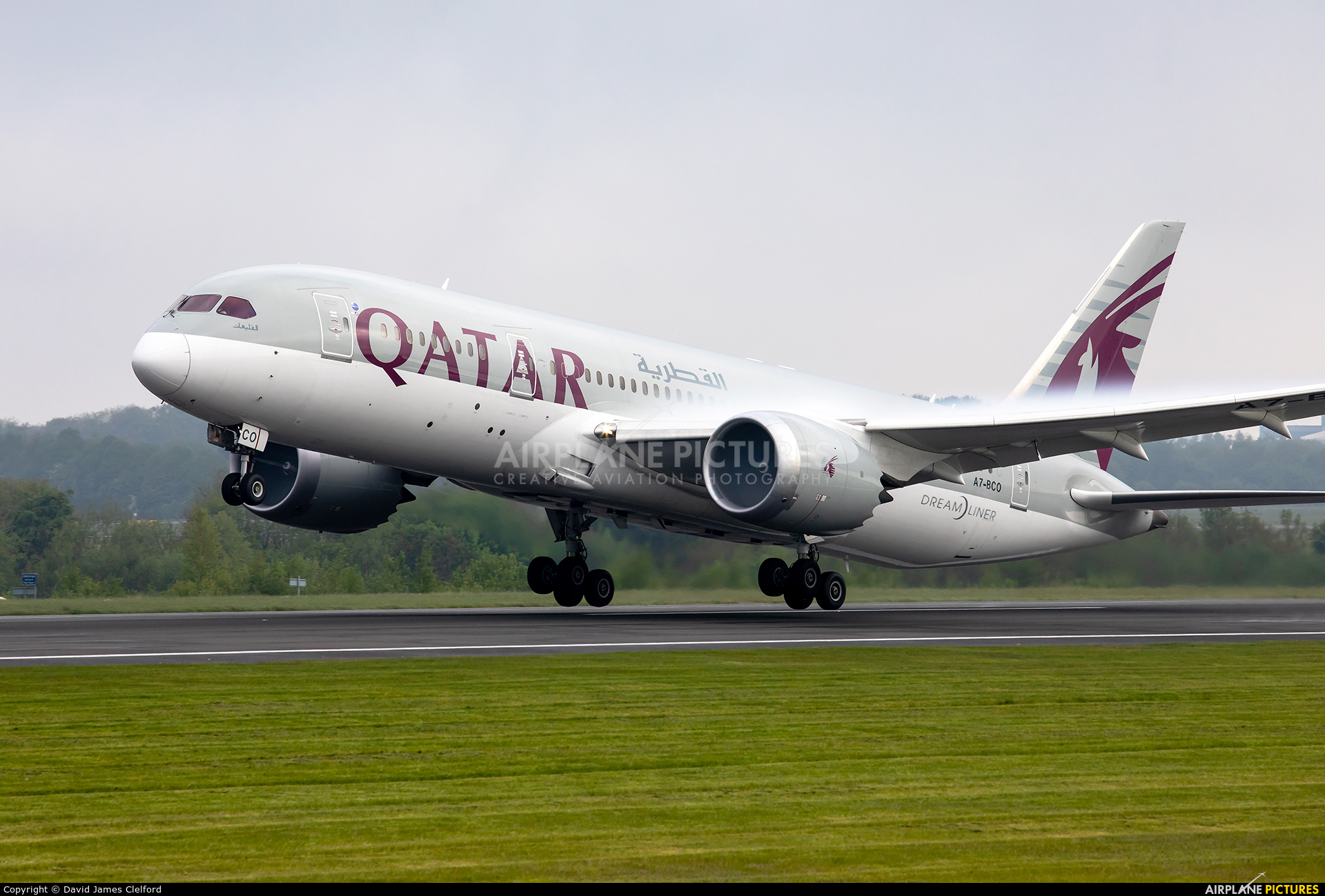 Qatar Airways A7-BCO aircraft at Manchester