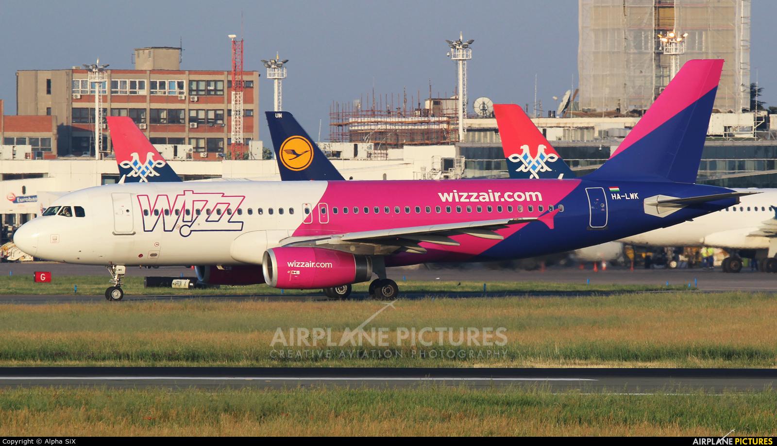 Wizz Air HA-LWK aircraft at Belgrade - Nikola Tesla Intl