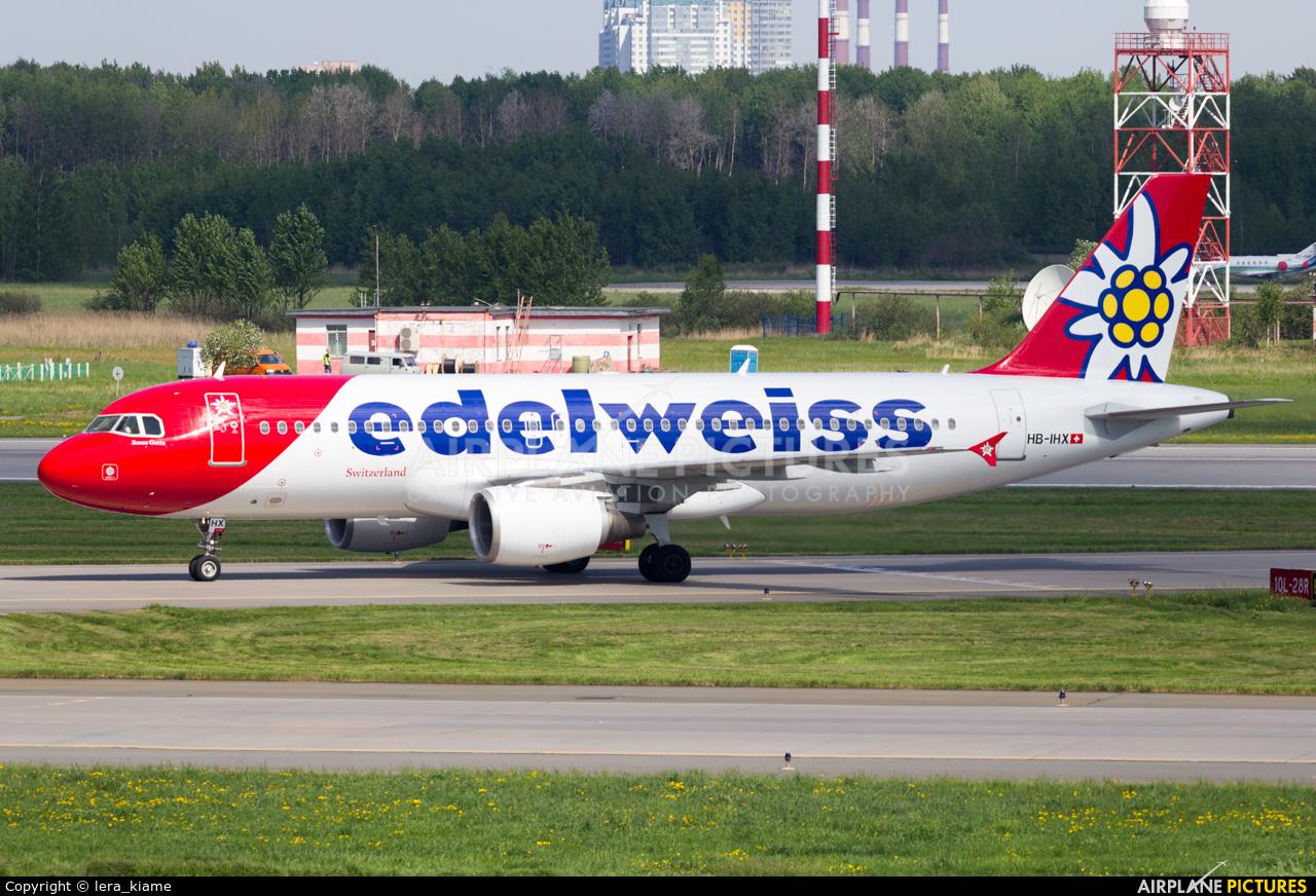 Edelweiss HB-IHX aircraft at St. Petersburg - Pulkovo