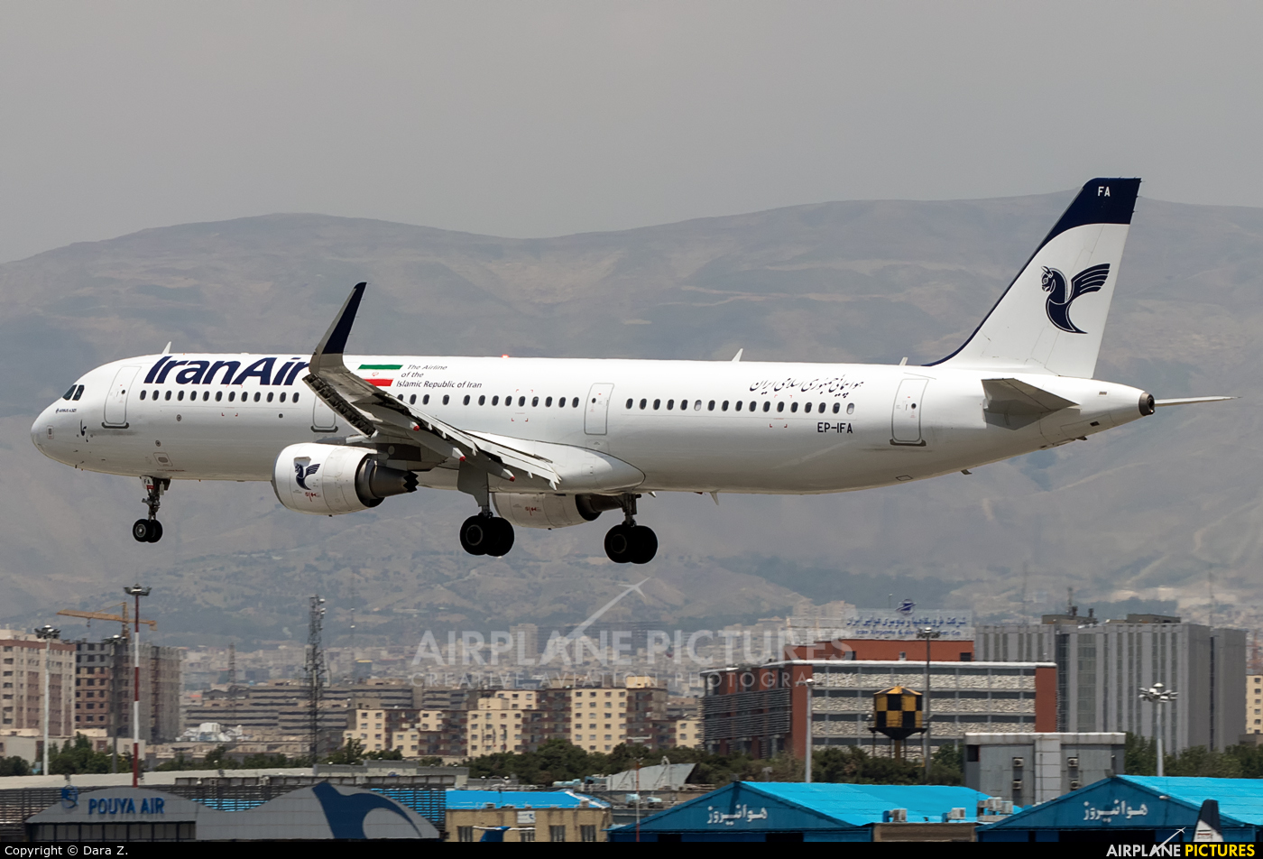 Iran Air EP-IFA aircraft at Tehran - Mehrabad Intl