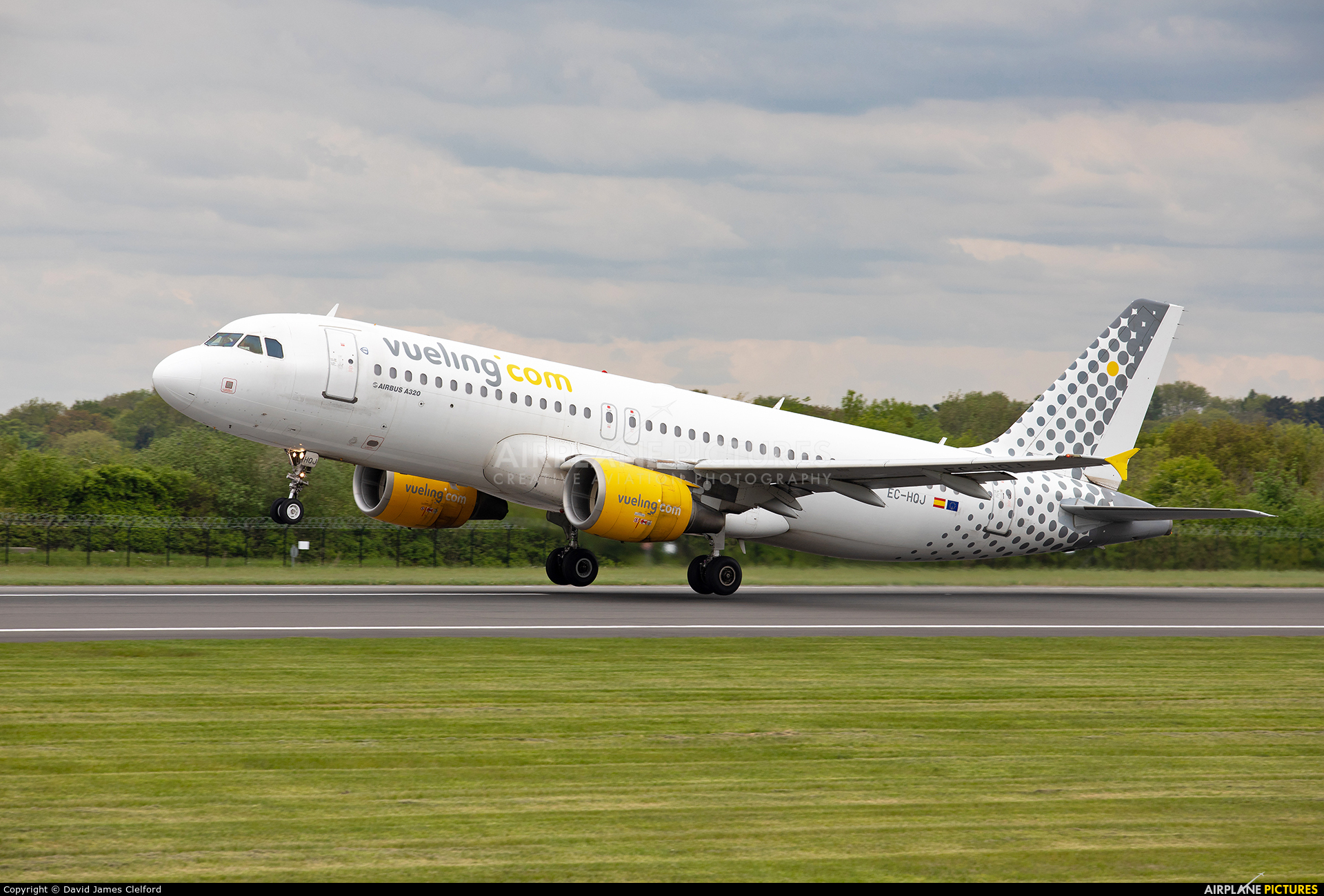 Vueling Airlines EC-HQJ aircraft at Manchester