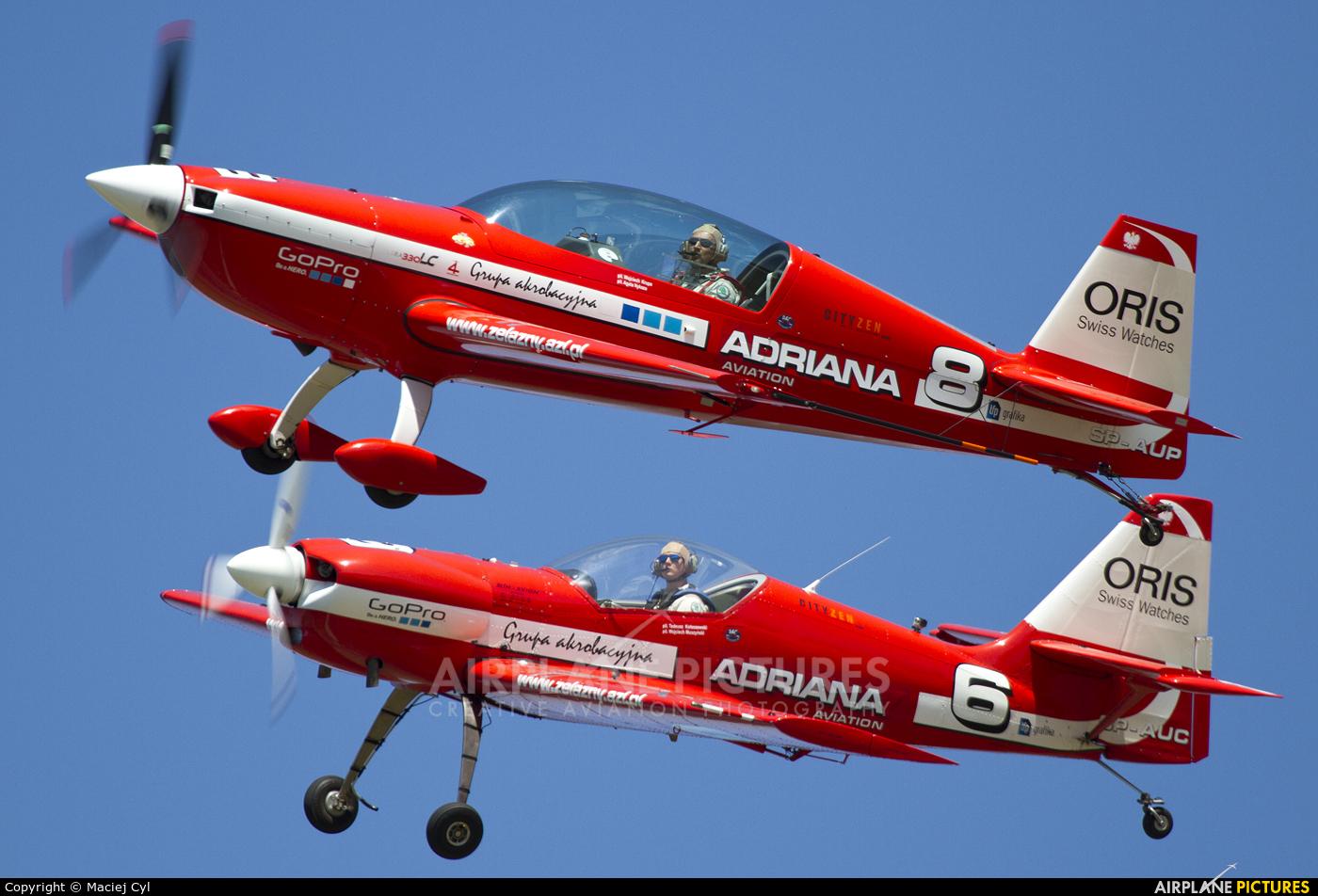Grupa Akrobacyjna Żelazny - Acrobatic Group SP-AUP aircraft at Poznań - Ławica