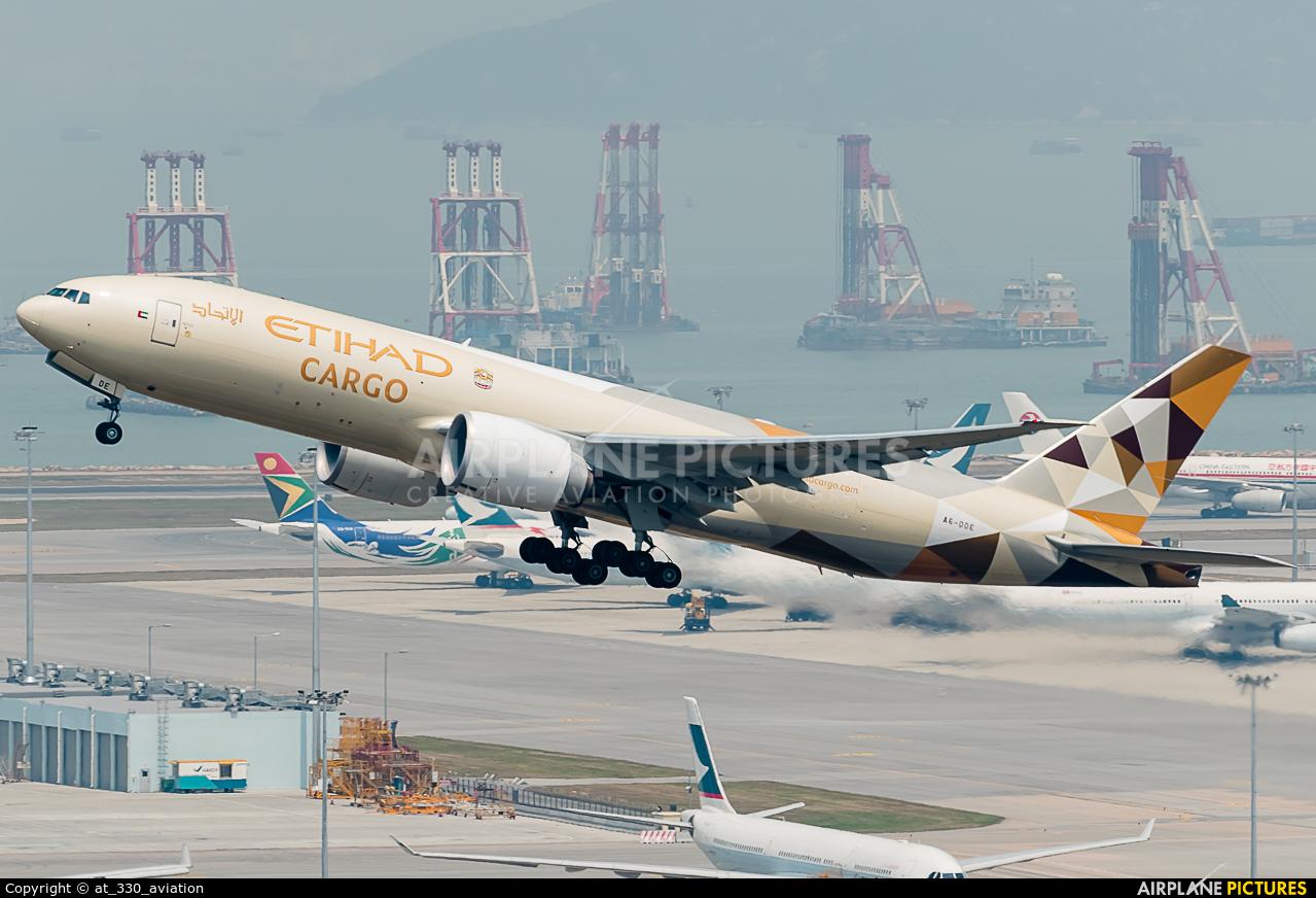 Etihad Cargo A6-DDE aircraft at HKG - Chek Lap Kok Intl