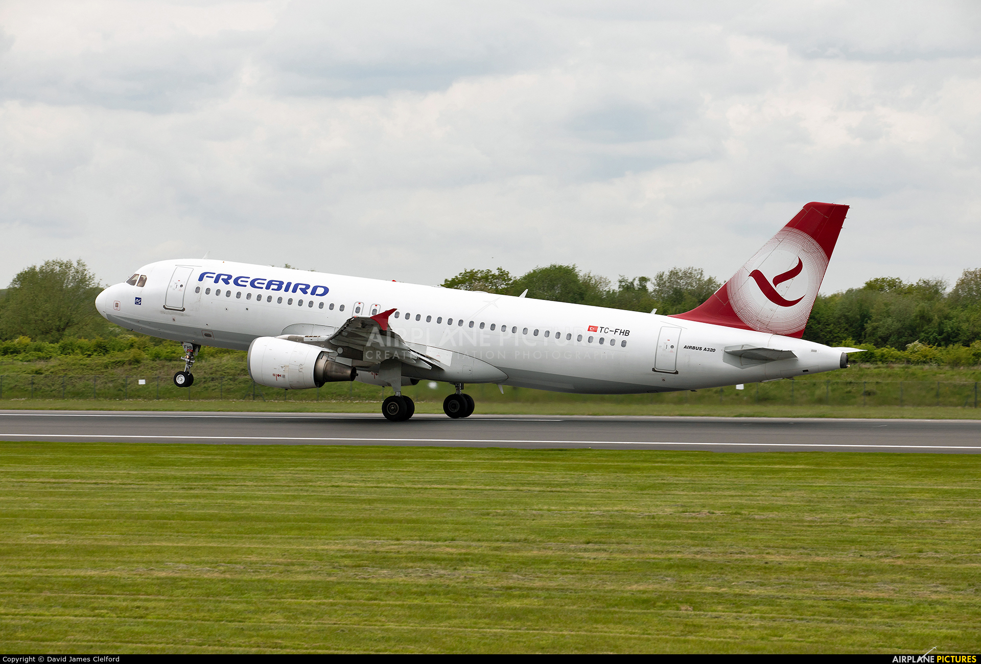 FreeBird Airlines TC-FHB aircraft at Manchester