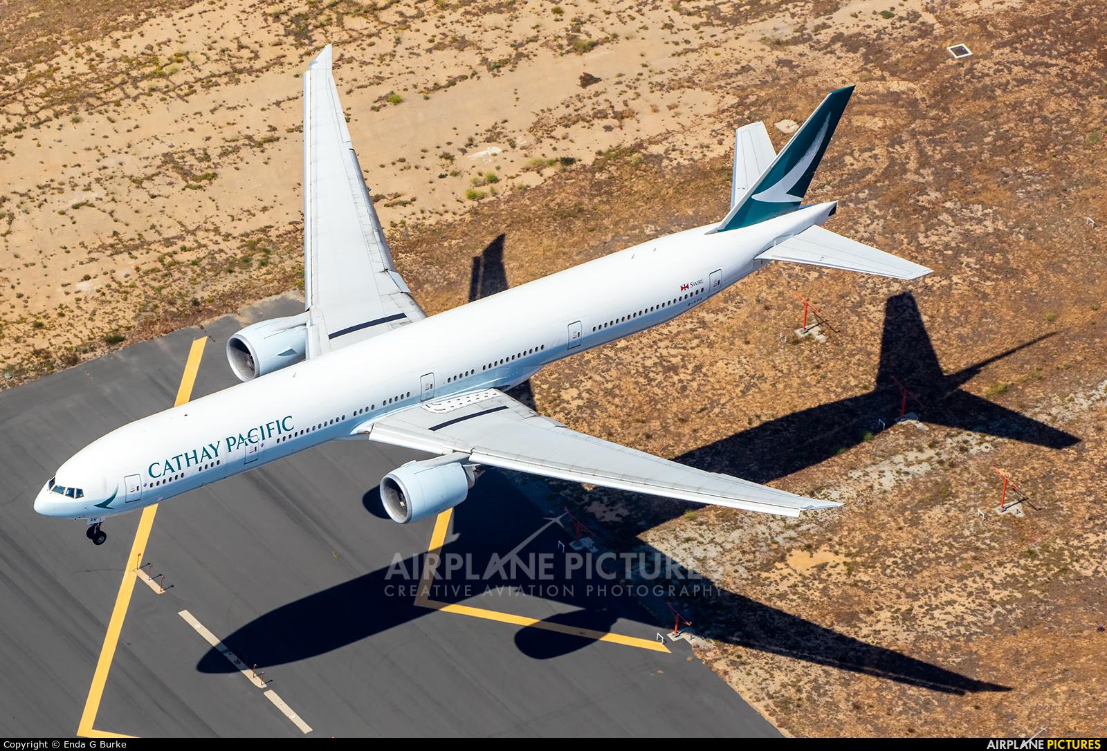 Cathay Pacific B-KPR aircraft at Los Angeles Intl