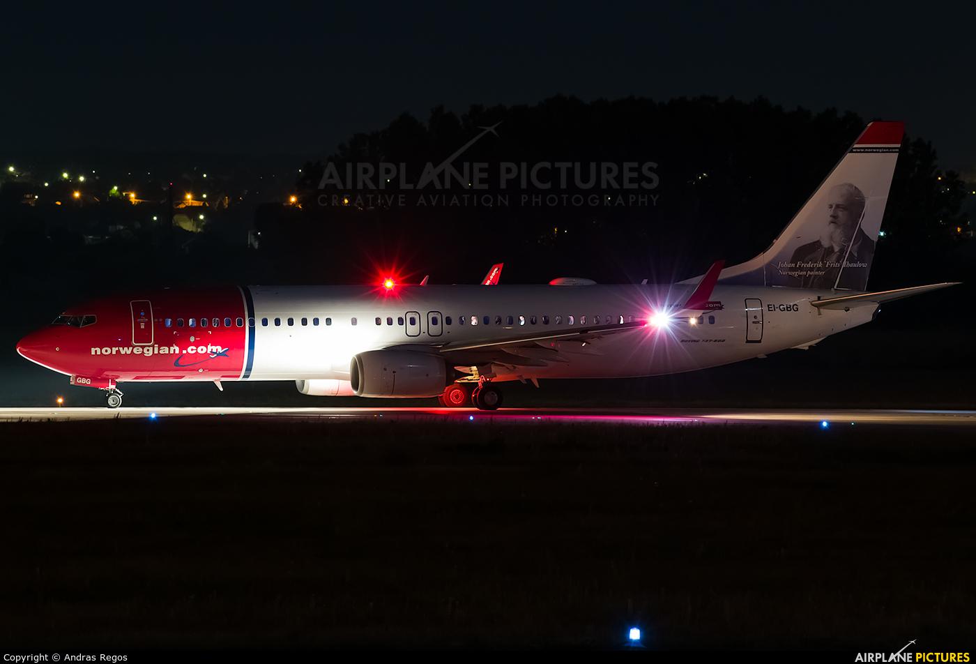 Norwegian Air International EI-GBG aircraft at Budapest Ferenc Liszt International Airport