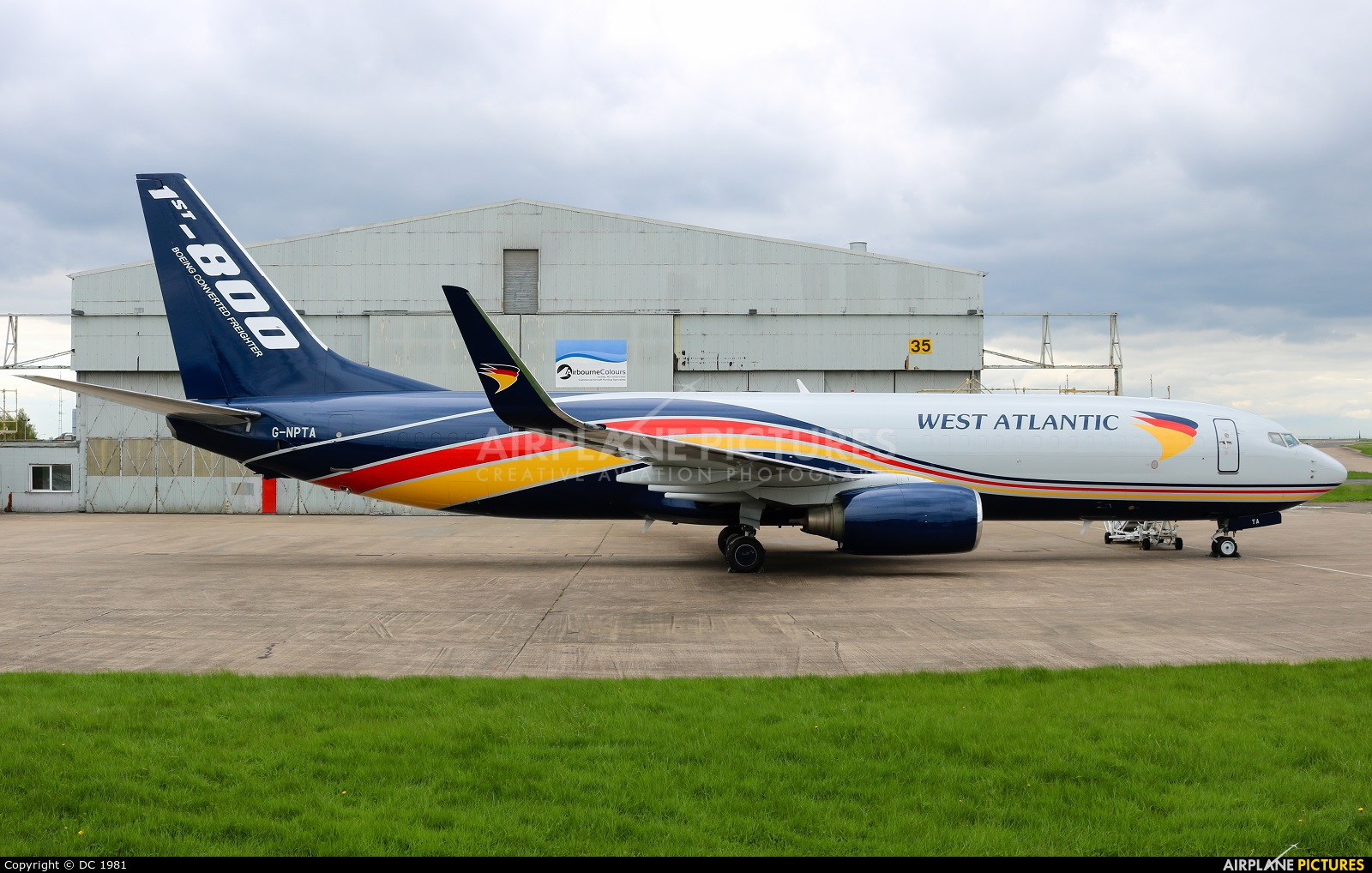 West Atlantic G-NPTA aircraft at East Midlands