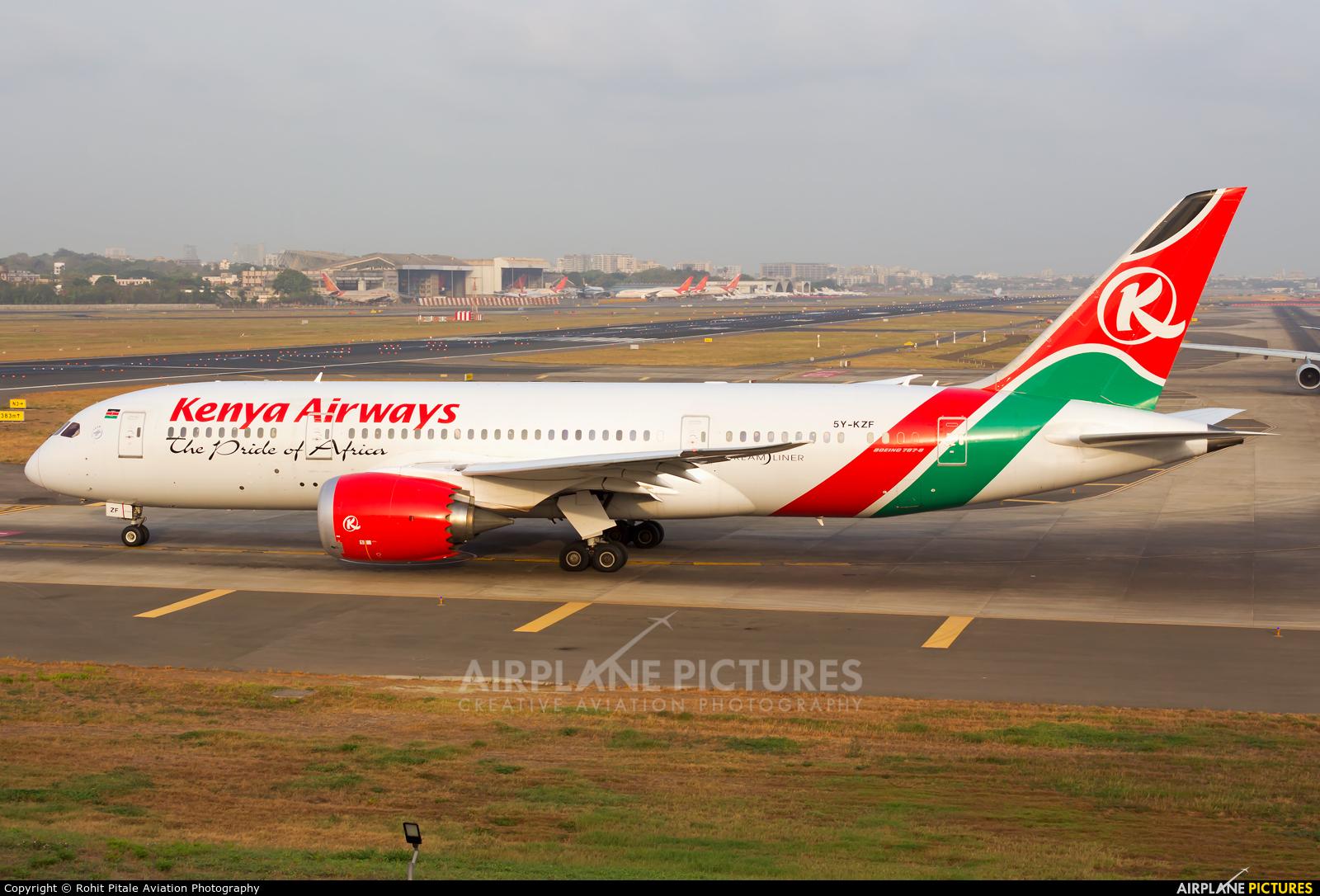 Kenya Airways 5Y-KZF aircraft at Mumbai - Chhatrapati Shivaji Intl
