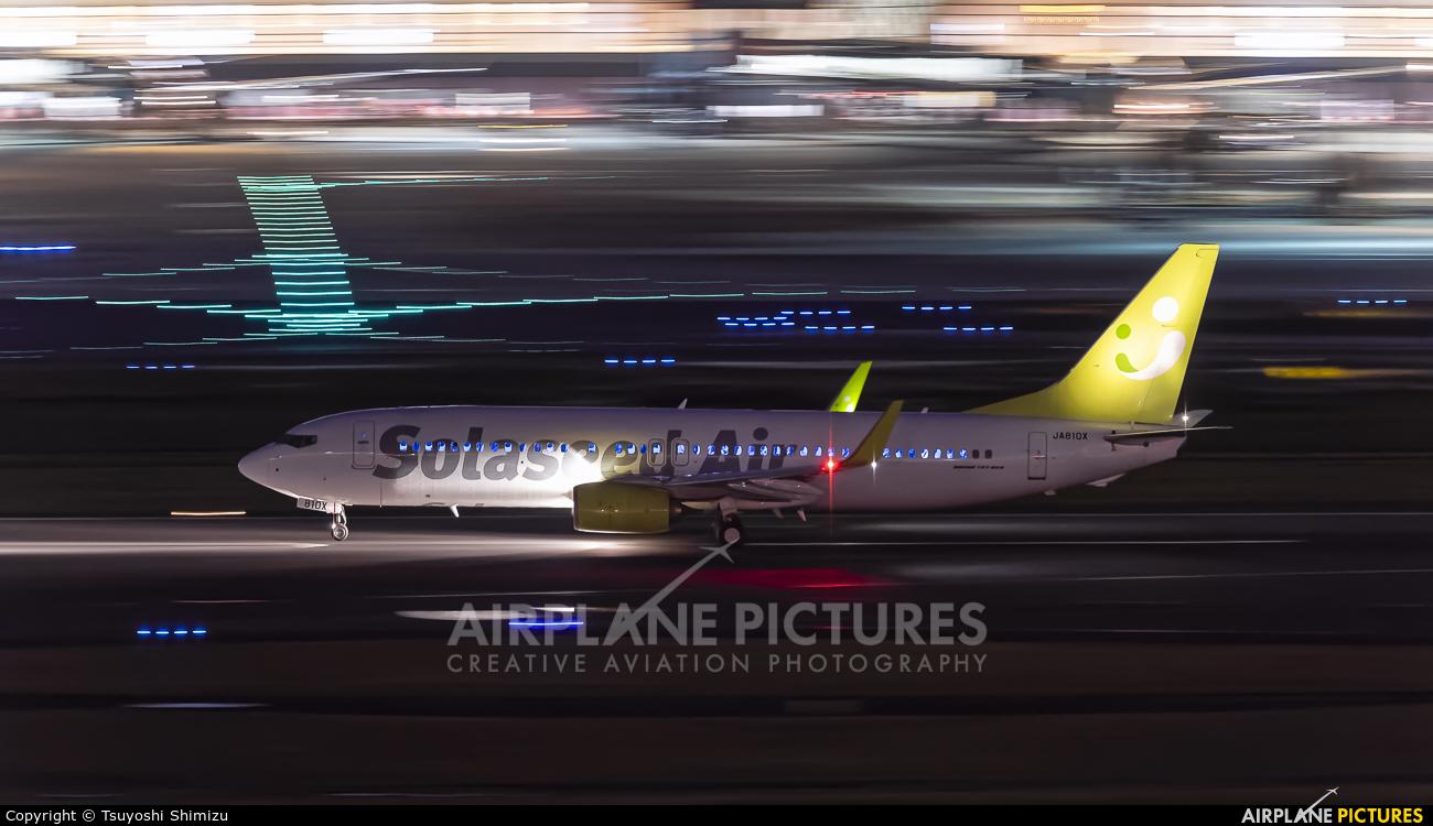 Solaseed Air - Skynet Asia Airways JA810X aircraft at Tokyo - Haneda Intl