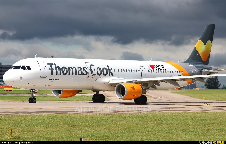 Thomas Cook G-TCDM aircraft at Manchester