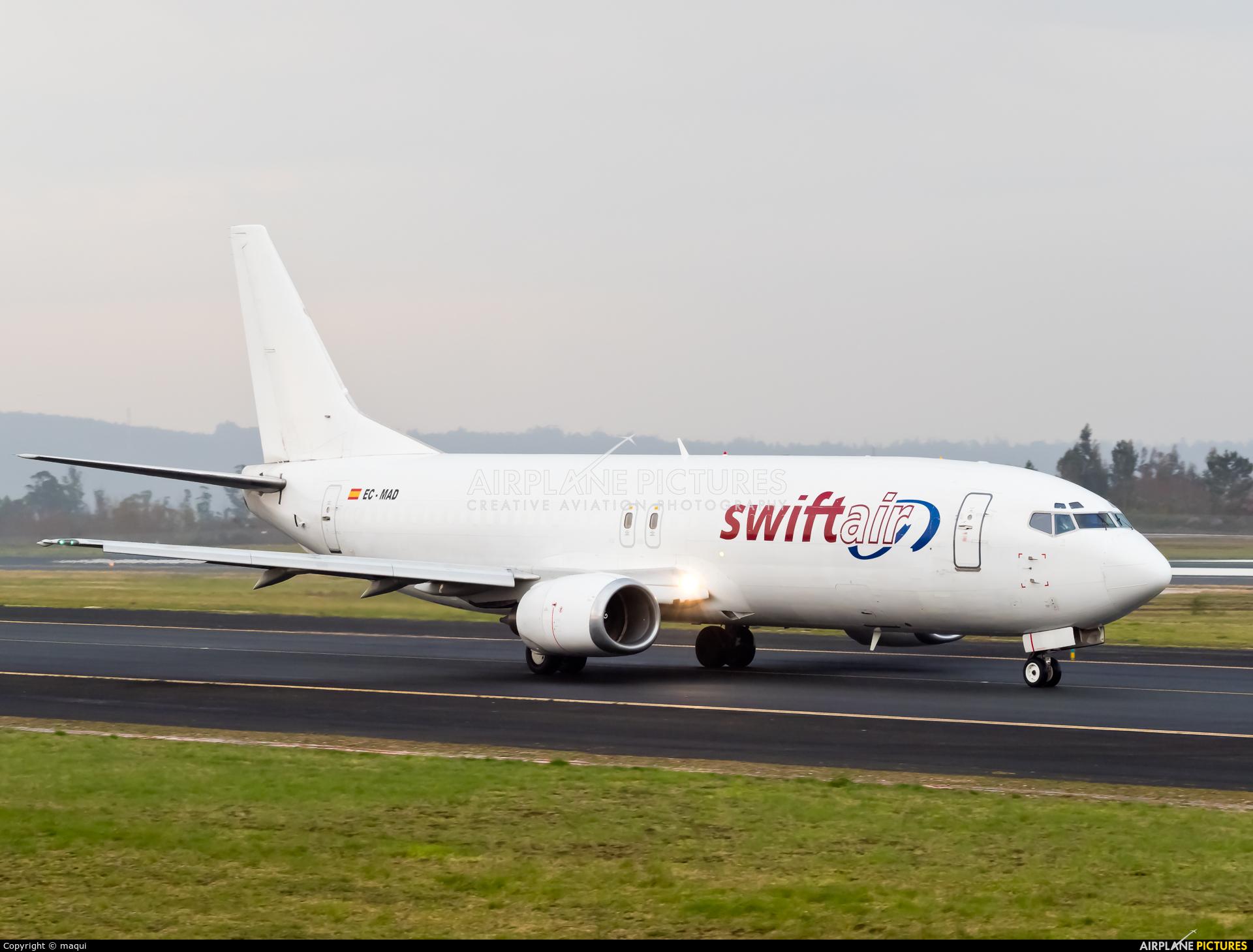 Swiftair EC-MAD aircraft at Santiago de Compostela