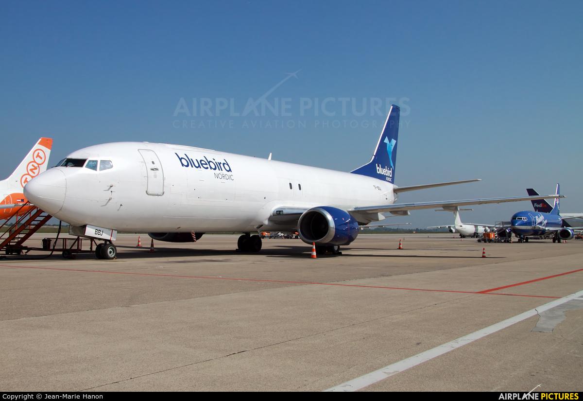 Bluebird Cargo TF-BBJ aircraft at Liège-Bierset