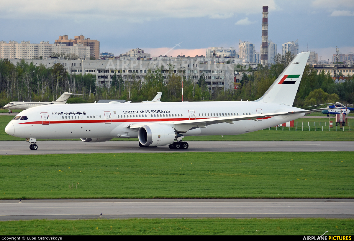 Abu Dhabi Amiri Flight A6-PFE aircraft at St. Petersburg - Pulkovo