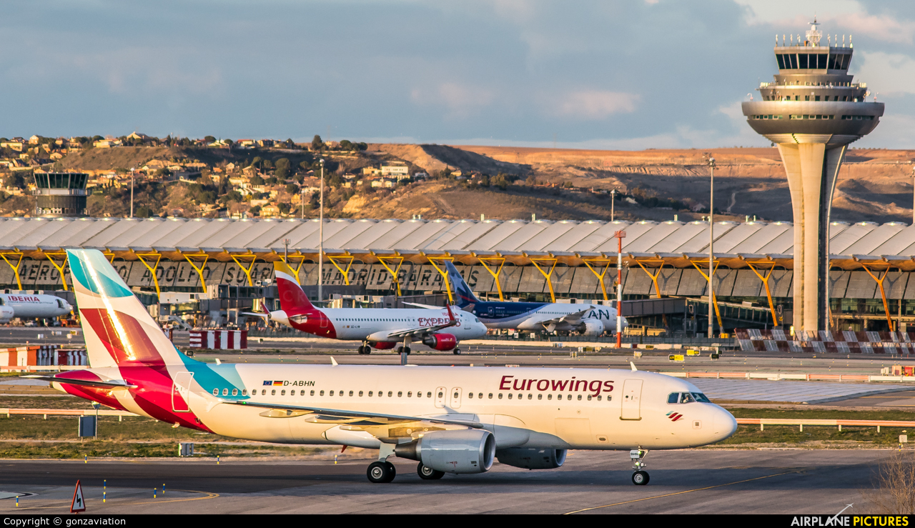 Eurowings D-ABHN aircraft at Madrid - Barajas