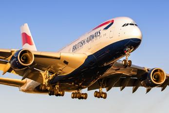 G-XLEK - British Airways Airbus A380