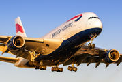 G-XLEK - British Airways Airbus A380 aircraft