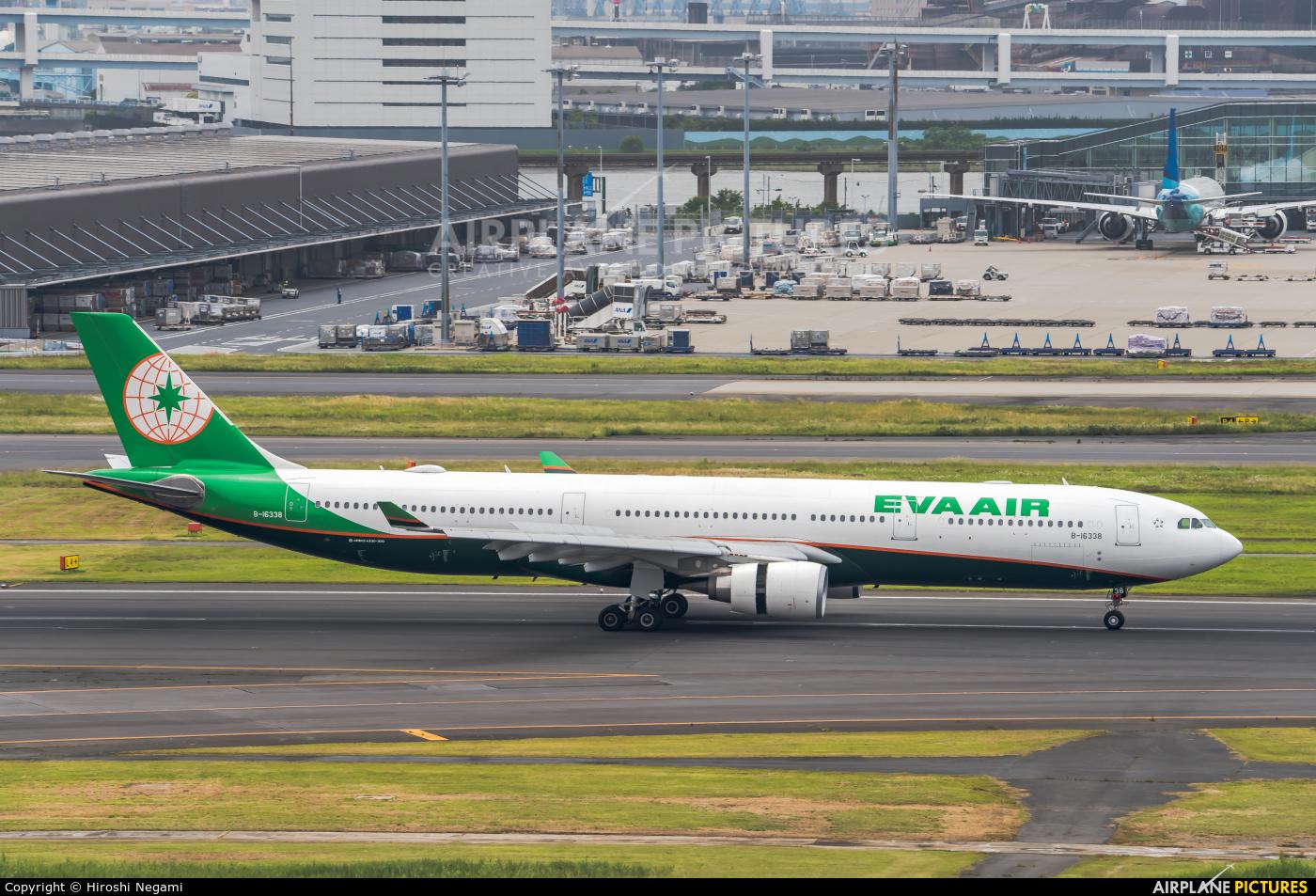 Eva Air B-16338 aircraft at Tokyo - Haneda Intl