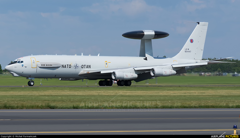NATO LX-N90447 aircraft at Poznań - Ławica