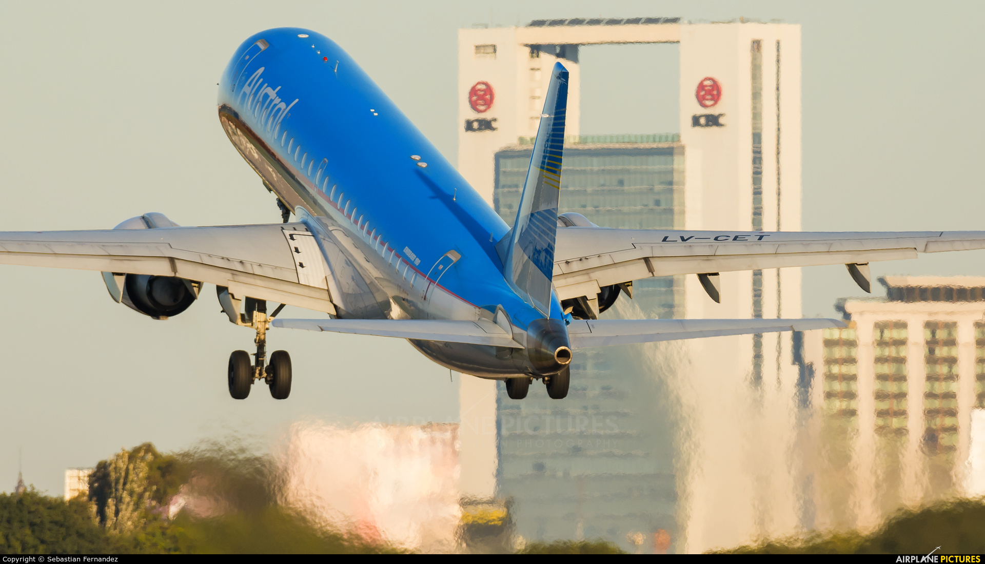 Austral Lineas Aereas LV-CET aircraft at Buenos Aires - Jorge Newbery