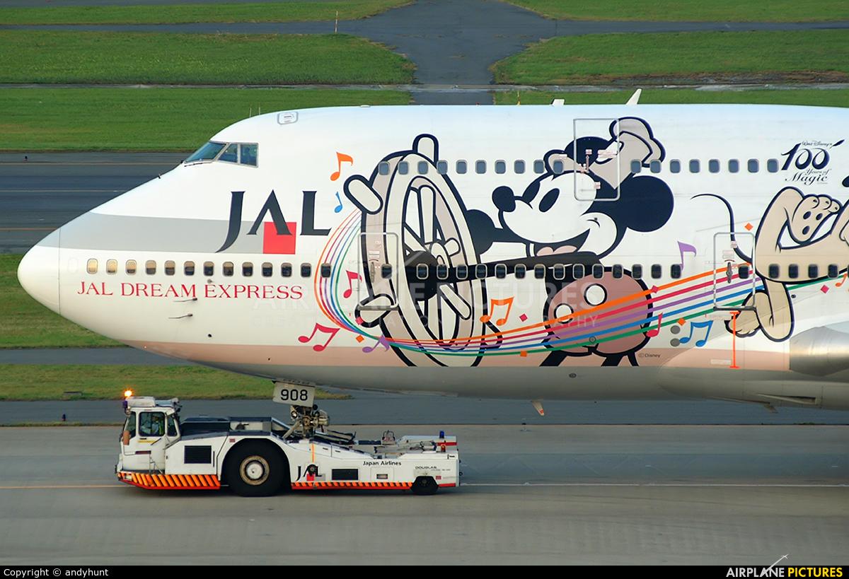 JAL - Japan Airlines JA8908 aircraft at Los Angeles Intl